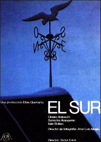 Cartel de la pelicula El sur, de Victor Erice