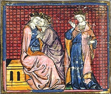 El rey Arturo, en una miniatura medieval