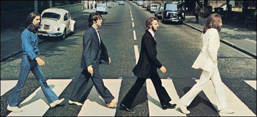 Mitica imagen de los Beatles