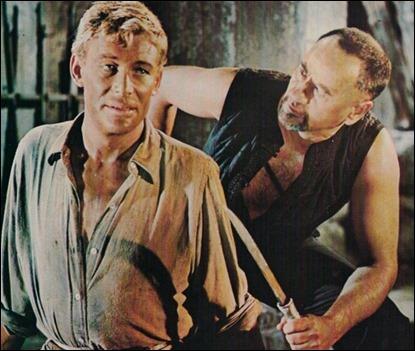 Peter O'Toole y Eli Wallach en Lord Jim