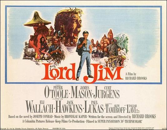 Poster de Lord Jim, la pelicula de Richard Brooks