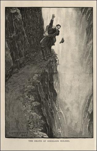 Moriarty y Holmes en las cataratas de Reichenbach
