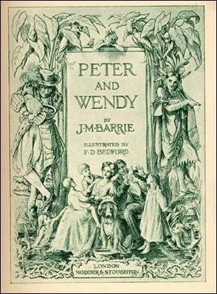 Cubierta original de Peter Pan and Wendy