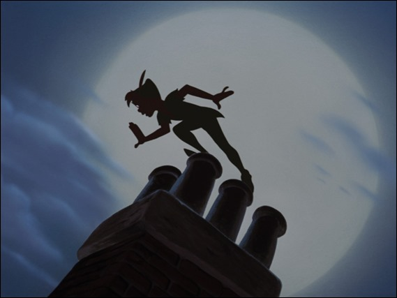 Peter Pan, o su silueta, segun Walt Disney
