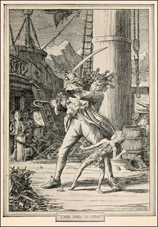 Peter Pan y el Capitán Garfio, por Bedford