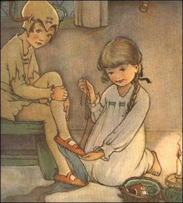 Peter Pan y Wendy, según Mabel Lucie Attwell